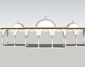indian jodhpuri stone arch 3d moda animated realtime
