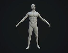 3D asset Base Mesh Male Body