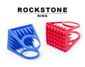 3D print model RockStone ring - Size 7
