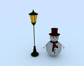 3D texture Snowman