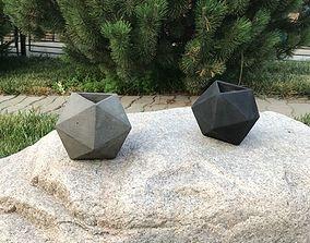 3D print model sculptures Ikosaedr mold for concrete works