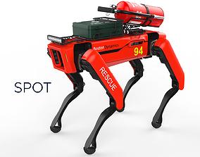 Boston Dynamics Spot Robot Rescue Red 3D