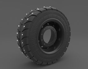 jeep 3D Wheel with spikes