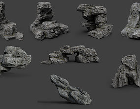 3D model Cliff Rock Collection 004