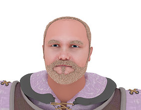 rigged realistic medieval monk -with stargate 3D model 2