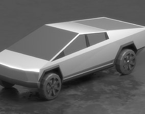 3D model Cybertruck Low-Poly