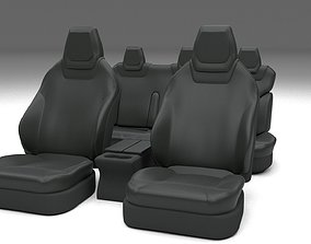 3D asset Tesla Model S Seats Dark