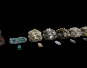 3D asset Ores and ingots 2