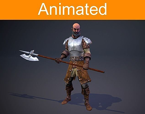 Character Knight 3D asset animated