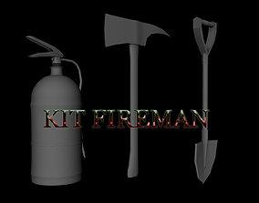 3D model Fireman Kit