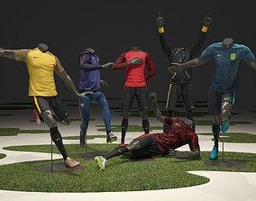 Male mannequin Nike Football pack 3D model