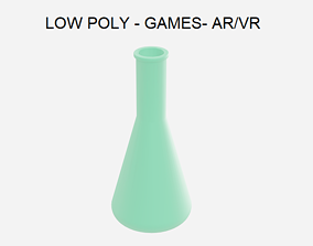 3D model Low Poly Conical Flask - Chemistry Lab