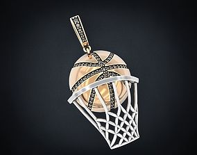 3D print model Stylish pendant basketball 302