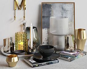 Decorative set for modern interior 2 3D
