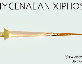 Mycenaean Bronze Sword 3D model