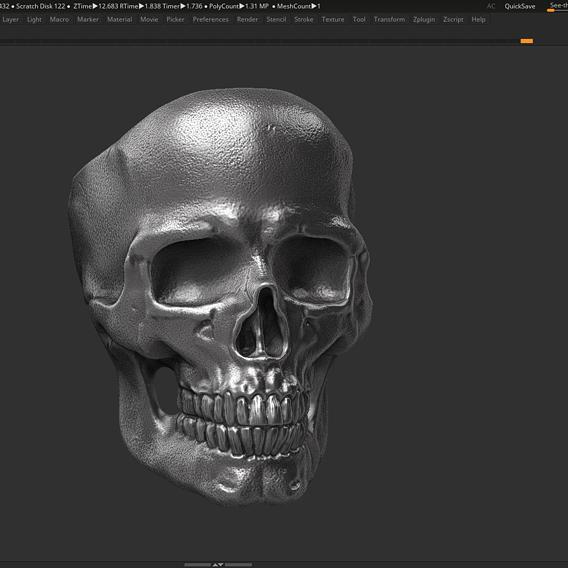 ring skull STL 3d print model 3D print model