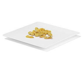Peanuts on White Plate 3D model