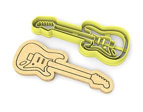 Electric Guitar cookie cutter 3D print model