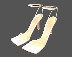 Square Toe Leather Sandals v1 001 3D asset