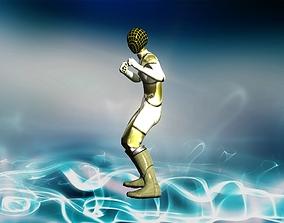 Metal suit guardian 3D asset