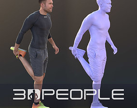 Simon 10081 - Stretching Athletic Man 3D model low-poly