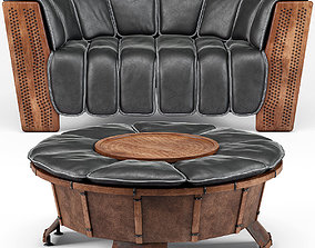 Dreamtime Armchair and Ottoman by Pacific Green 3D