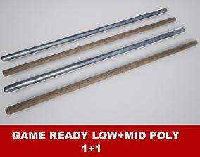 3D model Fighting Arnis Sticks PBR Game Ready