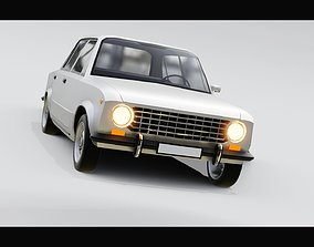 realtime Lada 1200 VAZ 2101 Zhiguli LOW-POLY 3d model car