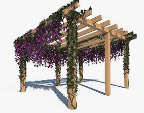 Pergola with Ivy sunshade 3D model