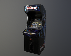 3D model game-ready Robocop Arcade Machine