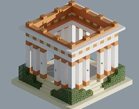 Ancient Building 3D model low-poly