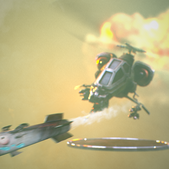 attack helicopter game model(PBR)