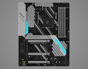 Asus Prime X470 PRO 3D model