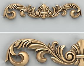 3D Carved decor horizontal 024
