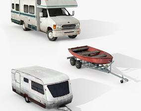 Campers Pack 3D model