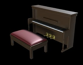 3D model Church Piano Set