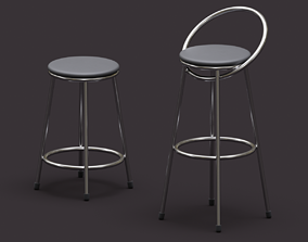 Realistic chairs chrome and pertroleum 3D model