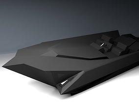 Futuristic Modern Speedboat Design 3D model
