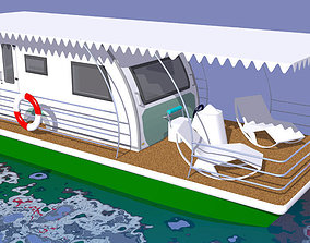 Nautic Caravan Houseboat 3D
