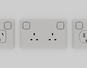 3D asset Power Outlet