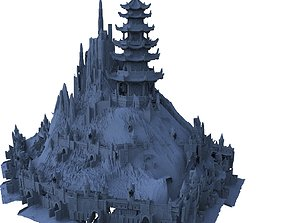 3D model Island fortress Chinese Architecture
