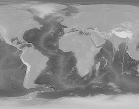 3D 43k Earth Bathymetry Map
