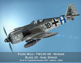3D model Focke Wulf - FW190 A8 - Black 10