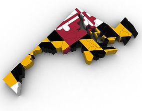 Maryland Political Map 3D