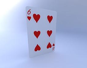 3D model Six of Hearts