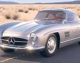 3D model Mercedes 300SL Gullwing w198 1955