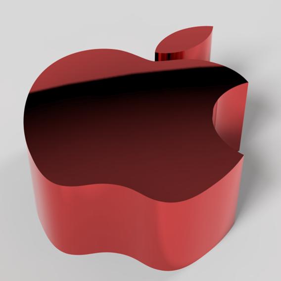 apple logo in 3d