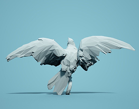 miniatures zoology Low Poly Bird Model