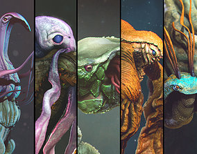 Volume 1 Sea Creatures - Highpoly 3D model