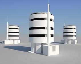 3D asset Industrial Building 09